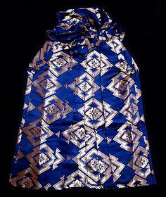 Blue & Gold Brocade Hakama