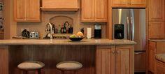 natural oak cabinets design | Natural Kitchen Cabinets in Red Oak