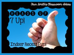 Indoor Recess Fun ~ Heads Up, 7 Up! #Free Printable Directions