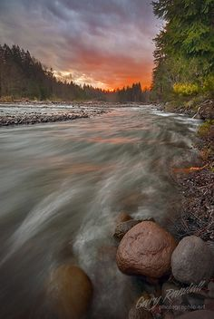 Sandy River Sunset. Great river in Oregon for steelhead or trout.