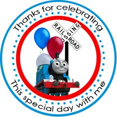 thomas the train personalized stickers