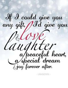 Love and Laughter!
