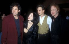 Tim Burton, Winona Ryder, Johnny Depp and Danny Elfman. (1990)