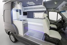 At the Dusseldorf Caravan Salon, perhaps the world's largest annual motorhome show happening this week in Germany, Mercedes-Benz is displaying a very photogenic cut-away model of a new 2014 high-roof Mercedes-Benz Sprinter fully converted into a camper van. The right-hand side of the Sprinter has been peeled back from the middle of the front passenger …