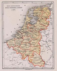 Map of the Netherlands, 1815 Early World Maps, Holland Map, Netherlands Map, Geography Map, Classical Antiquity, Uk History, Country Maps, Map Globe, Alternate History