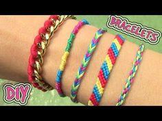 DIY Friendship Bracelets. 5 Easy DIY Bracelet Projects! - YouTube