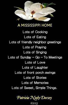 POEM: A MISSISSIPPI HOME Mississippi Poems by Patricia Neely-Dorsey #mississippi