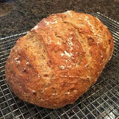 English Granary-Style Bread recipe courtesy of @breadin5   Fresh or toasted the next day, this recipe would be one of my hubby's top 3 favourites.