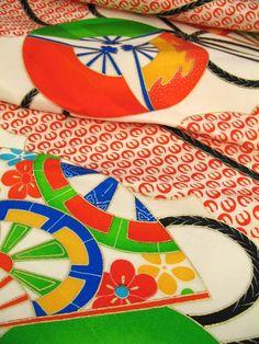 vintage silk kimono textile  ----------- #japan #japanese #kimono