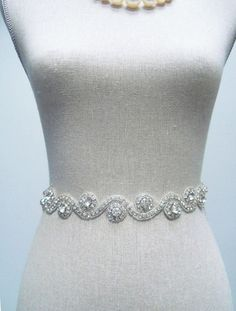 Bridal Dress Sash  Marylin by SparkleSM on Etsy, $125.00, maybe for maid of honor