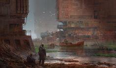 Rust Town, Alex Ichim on ArtStation at https://www.artstation.com/artwork/rust-town