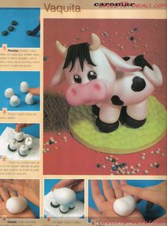 Fondant cake , step by step - Part 1 Its in Itallian but... still so cute