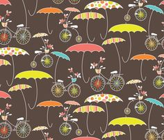 Whatever the Weather fabric by kayajoy for sale on Spoonflower - custom fabric, wallpaper and wall decals