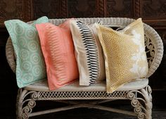 Beautiful textiles created by Kathryn Maresca. A great find from Grace Bonney - www.designsponge.com. Love the colours and patterns inspired by Savannah,GA.