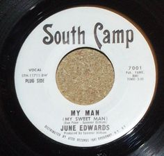 June Edwards My Man b/w Heaven Help Me Rare Northern Soul Promo 45 Vinyl Record by RASVINYL on Etsy