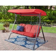 Mainstays Forest Hills 3 Seat Cushion Swing