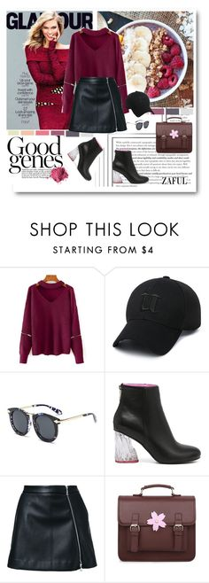 """""""Cut Out Chunky Choker Sweater"""" by merylicious91 ❤ liked on Polyvore featuring Guild Prime and zaful"""