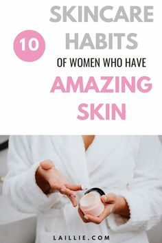 10 Skincare Habits Of Women Who Have Amazing Skin. Learn healthy skincare habits for clear skin. With these ten good skincare habits you will achieve flawless skin in no time. Use these beauty skincare habits to see quick results that last a long time. If you implement these skincare habit tips you will start seeing serious improvements in your acne, dark spots, and overall complexion. Someone Like Me, Gel Mask, Under My Skin, Healthy Skin Care, Touching You, Flawless Skin, Dark Spots, Clear Skin, Fashion Beauty