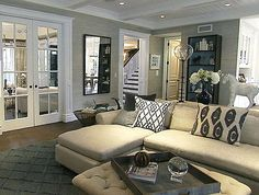 Living room perfection- colors, textures
