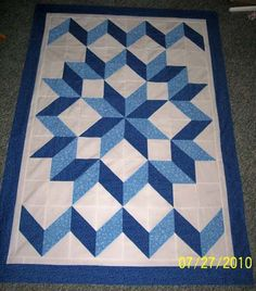 Carpenters Star in Blue Carpenters Star in Blue . Quilt Baby, Lap Quilts, Scrappy Quilts, Small Quilts, Quilt Blocks, Quilting Templates, Quilting Projects, Quilting Designs, Half Square Triangle Quilts Pattern