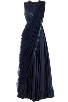 Black saree gown