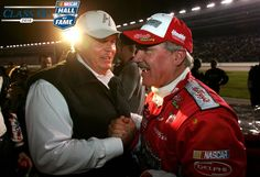 2016 NASCAR Hall of Fame nominees abound with Hendrick Motorsports connections.Rick Hendrick and Terry Labonte Nascar Racing, Racing Team, Auto Racing, Rick Hendrick, Terry Labonte, Jeff Gordon Nascar, Class Of 2016, The Good Old Days, Race Cars