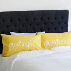 Home Republic Handsome/Gorgeous Text Pillow cases