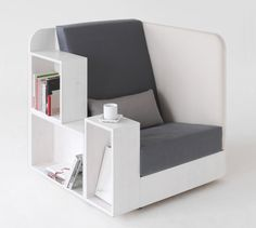 white reading chair