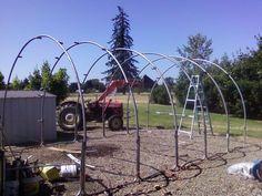 Trampoline frame building
