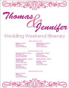 Mustard Yellow Wedding Itinerary Template Download Template At