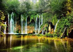oh my.. oh my.. where am i ? fairies world,,?? >w< *plitvice lake croatia*