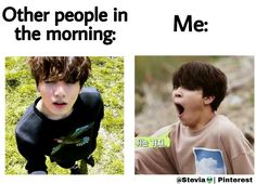 BTS meme || People at the morning