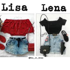 Summer outfits: Lisa or Lena? I would choose Lena. African Dresses For Women, African Print Dresses, African Women, African Fashion, Twin Outfits, Outfits For Teens, Summer Outfits, Lisa And Lena Clothing, Lisa Or Lena
