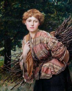 'The Gamekeeper's Daughter' by Valentine Cameron Prinsep, 1875