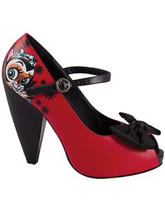 A little young for me but super cute! Mitch O'Connell Red Kitty Pumps by T.U.K. Shoes, Red