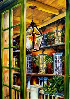 View from a French Quarter Balcony - Artist: Diane Milsap. I have gotten to know Diane a little bit via Flick'r our shared love of New Orleans--she is one talented lady and a sweetheart on top of that!