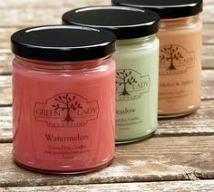 Deliciously Fragrant Soy Candles www.greenladycreations.com