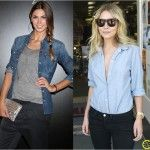 Look do Dia = Camisa Jeans + Calça Preta
