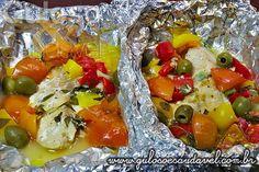 Tilápia no Papelote » Peixes e Frutos do Mar, Receitas Saudáveis » Guloso e Saudável