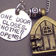 One Door Closes Another Opens Fairy Door Necklace by WireNWhimsy, $40.00