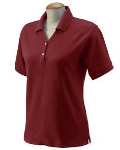 Devon & Jones D100W Ladies Pima Pique Short-Sleeve Polo - Burgundy - 3XL Devon & Jones. $6.00