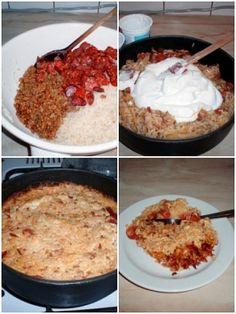 Koložvárské zelí Slovak Recipes, Czech Recipes, Good Food, Yummy Food, Side Dishes, Oatmeal, Meat, Chicken, Cooking