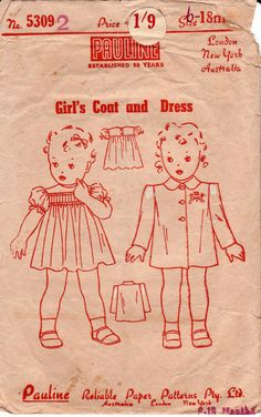 1940s Vintage Antique Sewing pattern by allthepreciousthings,