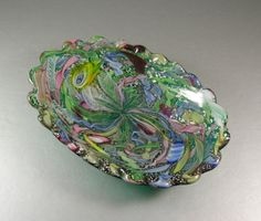 Hey, I found this really awesome Etsy listing at https://www.etsy.com/listing/227195829/murano-filigree-art-glass-bowl-avem