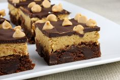 Peanut butter cookie dough brownies!!