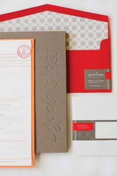 Academia-Inspired Business Stationery // Custom fabric folder by KD Books // Photo by Caroline Tran