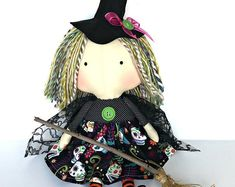 Your place to buy and sell all things handmade Halloween Doll, Halloween Party Decor, Baby's First Doll, Baby Dolls For Kids, Tilda Toy, Fall Gifts, Fall Season, Unique Colors, Beautiful Dolls