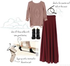 How To Style Your Maxi Skirt in the Winter