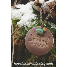 Hand Stamped AMAZING GRACE Necklace Pendant by HOPEhomemade, $28.00