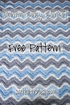 Chevron Baby Blanket, FREE PATTERN! by southerndaisy.com